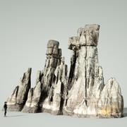 Mountain Rock Boulder 4 3d model