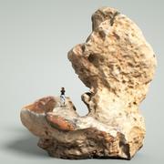 Mountain Rock Boulder 5 3d model