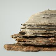 Mountain Rock Boulder 6 3d model