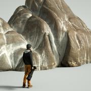 Mountain Rock Boulder 7 3d model