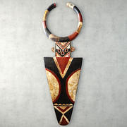 African Large Senufo Wall Mask 3d model