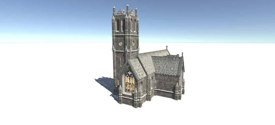Europese gebouwen royalty-free 3d model - Preview no. 4