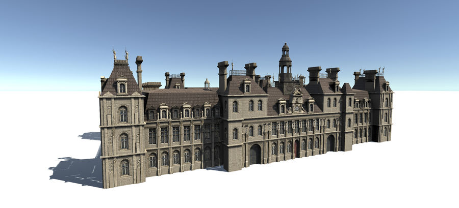 Europese gebouwen royalty-free 3d model - Preview no. 2