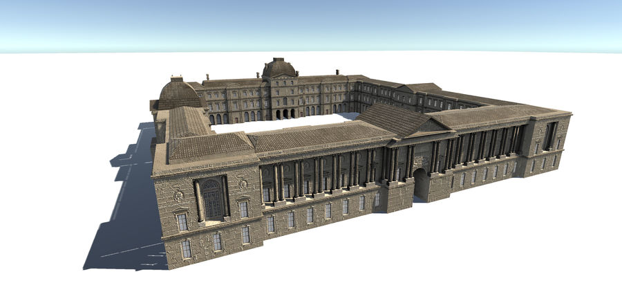 Europese gebouwen royalty-free 3d model - Preview no. 3