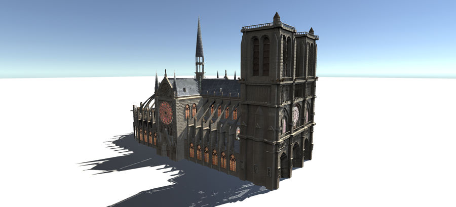 Europese gebouwen royalty-free 3d model - Preview no. 1