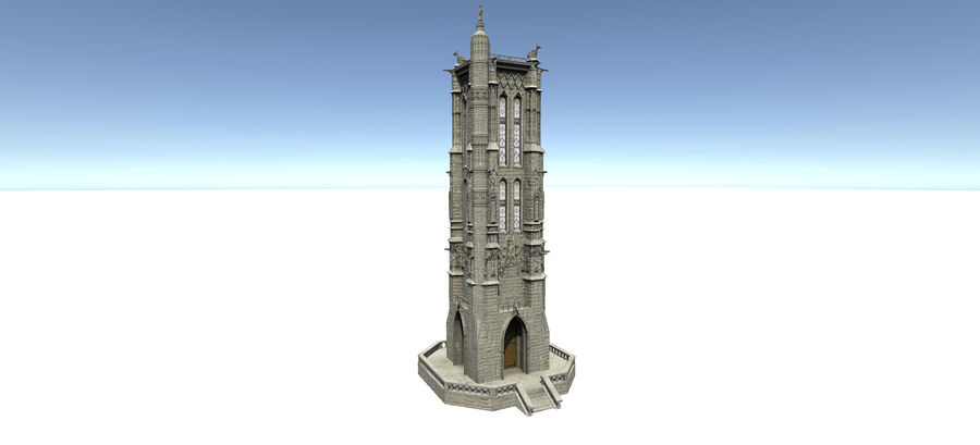 Europese gebouwen royalty-free 3d model - Preview no. 5