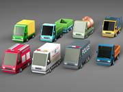 Pack complet de véhicules de dessin animé 3d model
