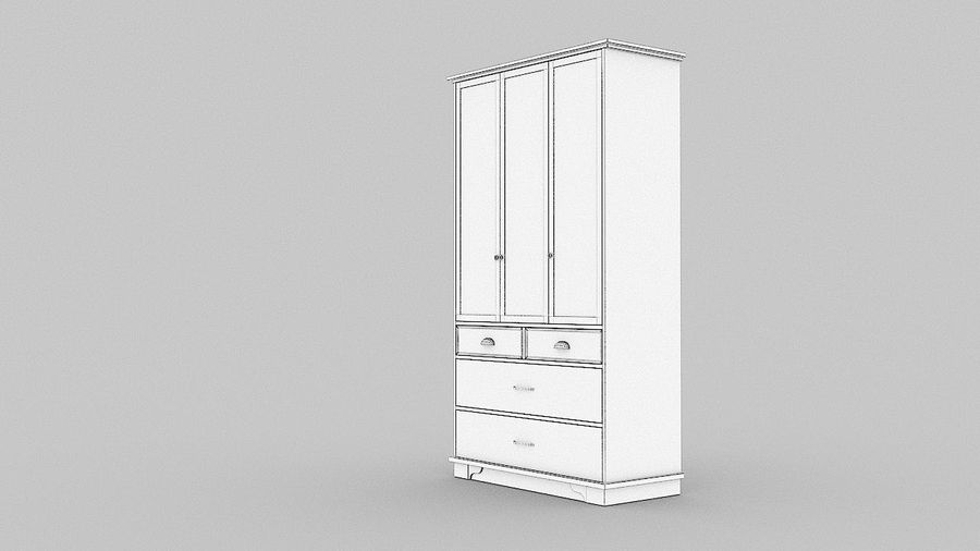 Schrank Schrank royalty-free 3d model - Preview no. 12