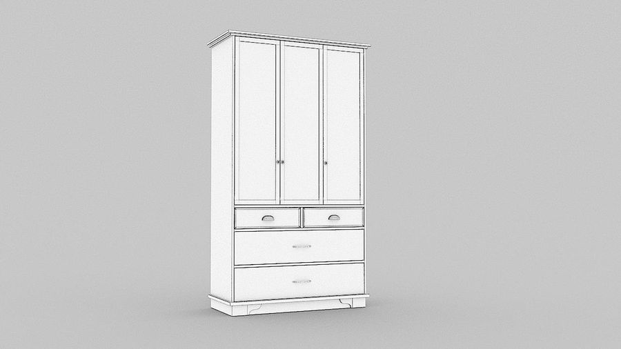 Schrank Schrank royalty-free 3d model - Preview no. 14