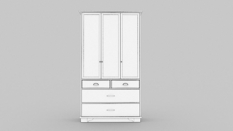 Schrank Schrank royalty-free 3d model - Preview no. 11