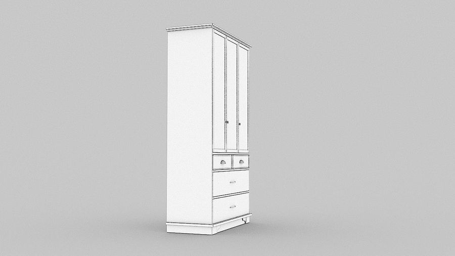 Schrank Schrank royalty-free 3d model - Preview no. 15