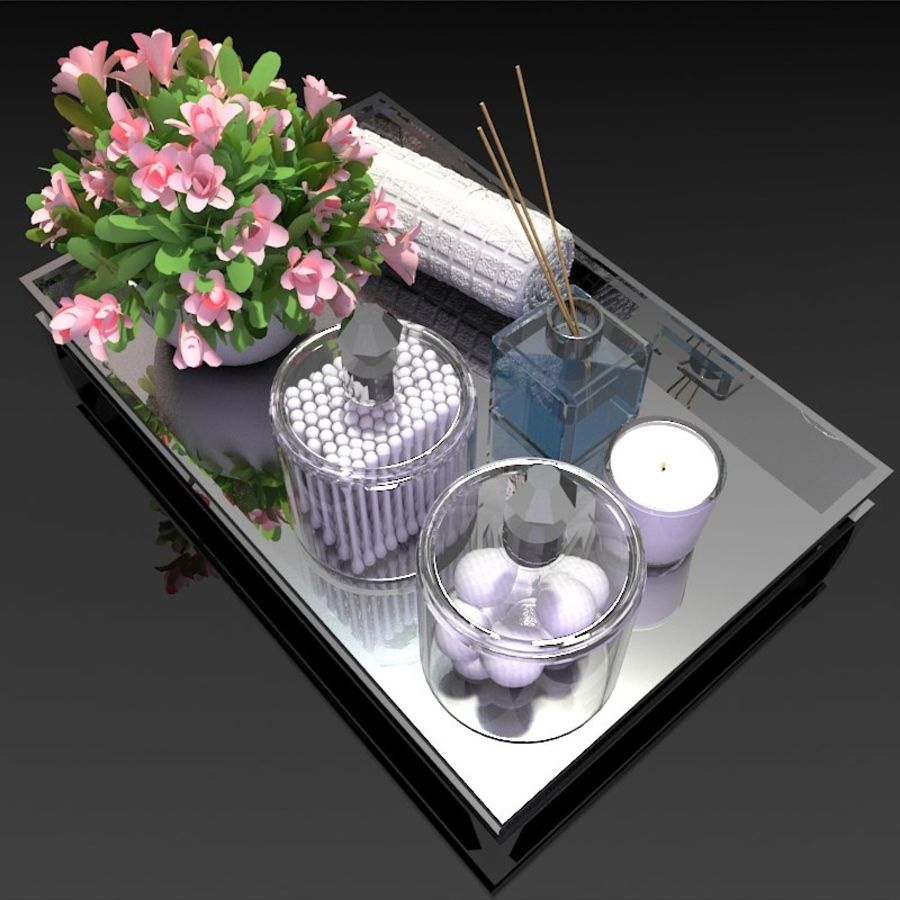 Spa Accessories - Bathroom Accessories royalty-free 3d model - Preview no. 4