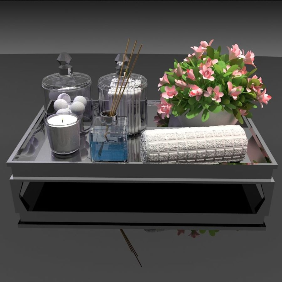 Spa Accessories - Bathroom Accessories royalty-free 3d model - Preview no. 2