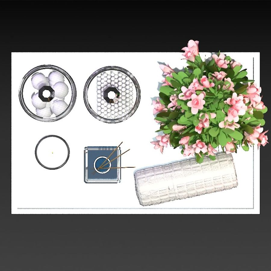 Spa Accessories - Bathroom Accessories royalty-free 3d model - Preview no. 5
