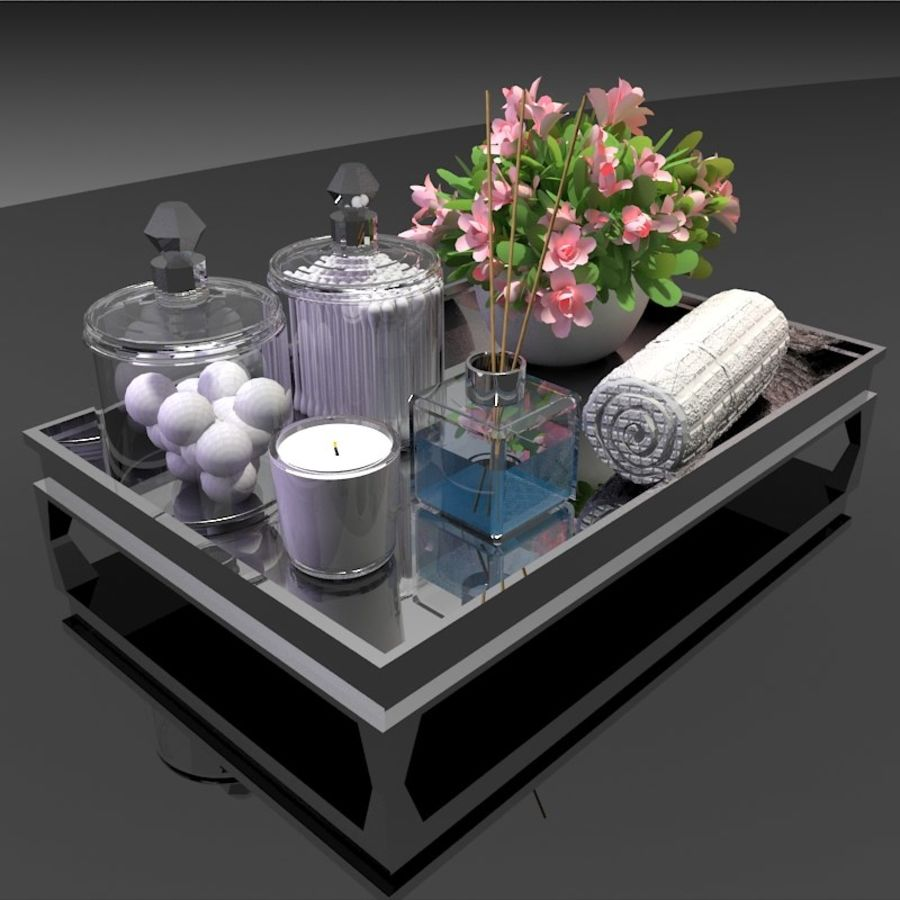 Spa Accessories - Bathroom Accessories royalty-free 3d model - Preview no. 1