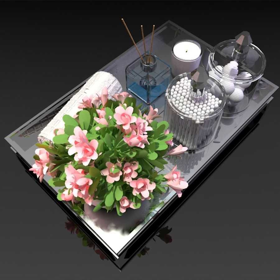 Spa Accessories - Bathroom Accessories royalty-free 3d model - Preview no. 3