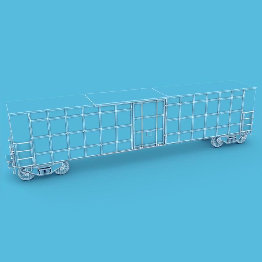 Güterwagen royalty-free 3d model - Preview no. 11