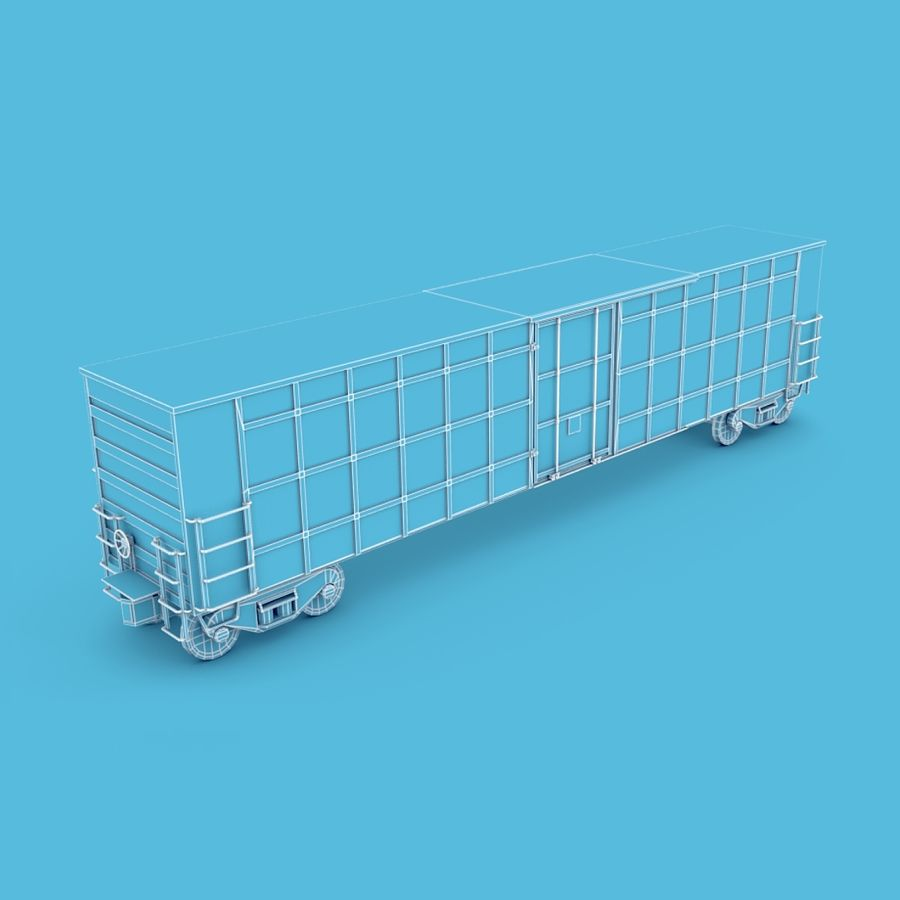 Güterwagen royalty-free 3d model - Preview no. 3