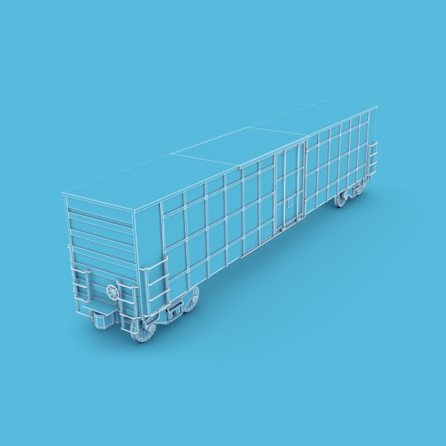 Güterwagen royalty-free 3d model - Preview no. 9