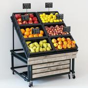 Fruit display rack 3d model