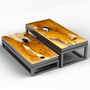 Teakowe stoliki kawowe 3d model