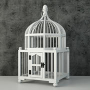 Wooden Decorative Cage by ZARA HOME 3d model