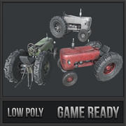 Old Tractor PBR 3d model