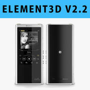E3D-索尼Walkman NW-ZX300 MP3播放器3D 3d model