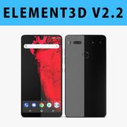 E3D - Modello 3D essenziale per telefono Titanium 3d model