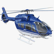 Civil Helicopter Airbus H145 Rigged 3d model