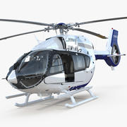 Light Utility Helicopter Eurocopter EC145 T2 Rigged 3d model