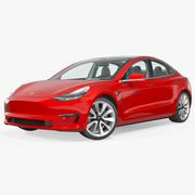 Tesla Model 3 Rigged 3d model