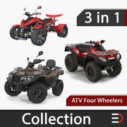 Coleção de modelos 3D de ATV Four Wheelers 3d model