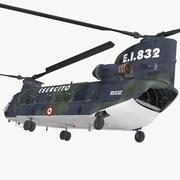 수송 헬리콥터 CH-47 치누크 3d model