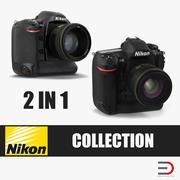 Professionella DSLR-kameror Nikon 3D Models Collection 3d model