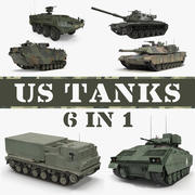 US Tanks Collection 3d model
