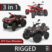 Coleção de modelos 3D Rigged ATV Four Wheelers 3d model