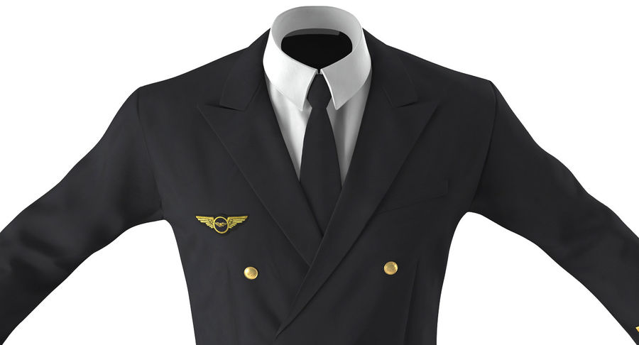 Airline Pilot and Stewardess 3D Models Collection royalty-free 3d model - Preview no. 9