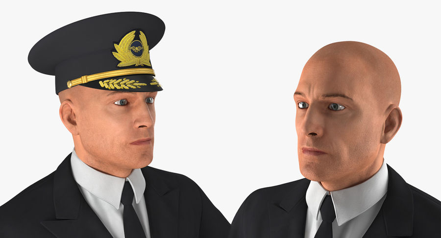 Airline Pilot and Stewardess 3D Models Collection royalty-free 3d model - Preview no. 8