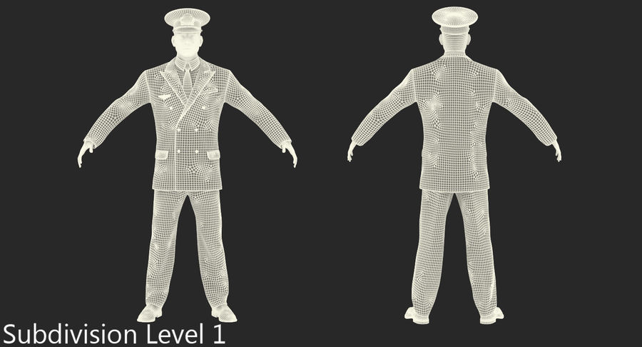 Airline Pilot and Stewardess 3D Models Collection royalty-free 3d model - Preview no. 22
