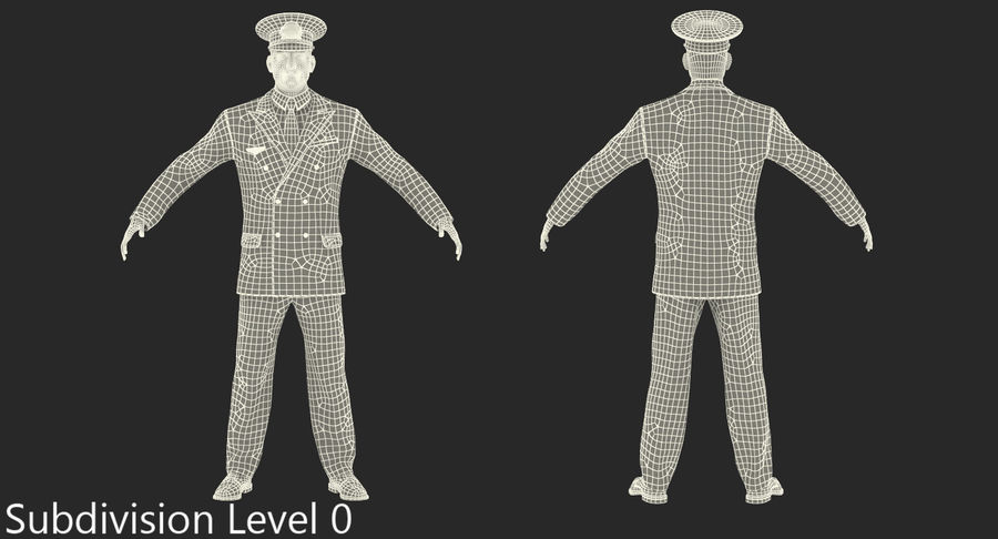 Airline Pilot and Stewardess 3D Models Collection royalty-free 3d model - Preview no. 21