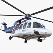 Corporate Transport Helicopter Agusta Westland AW189 3d model