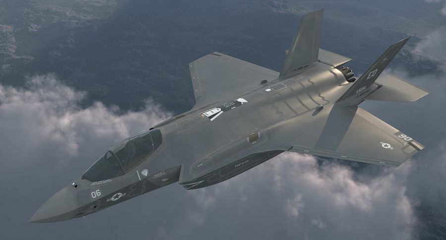 Stealth Multirole Fighter F-35 Lightning II royalty-free 3d model - Preview no. 4