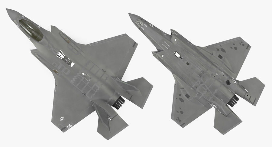 Stealth Multirole Fighter F-35 Lightning II royalty-free 3d model - Preview no. 10