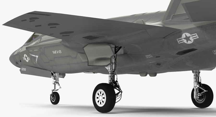 Stealth Multirole Fighter F-35 Lightning II royalty-free 3d model - Preview no. 12