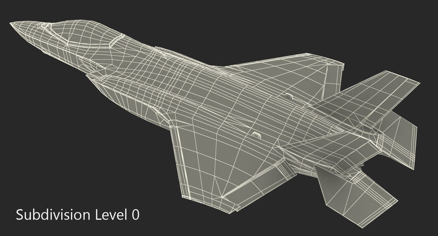 Stealth Multirole Fighter F-35 Lightning II royalty-free 3d model - Preview no. 15