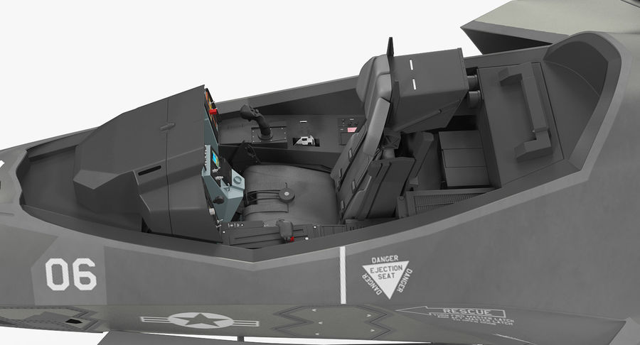Stealth Multirole Fighter F-35 Lightning II royalty-free 3d model - Preview no. 13