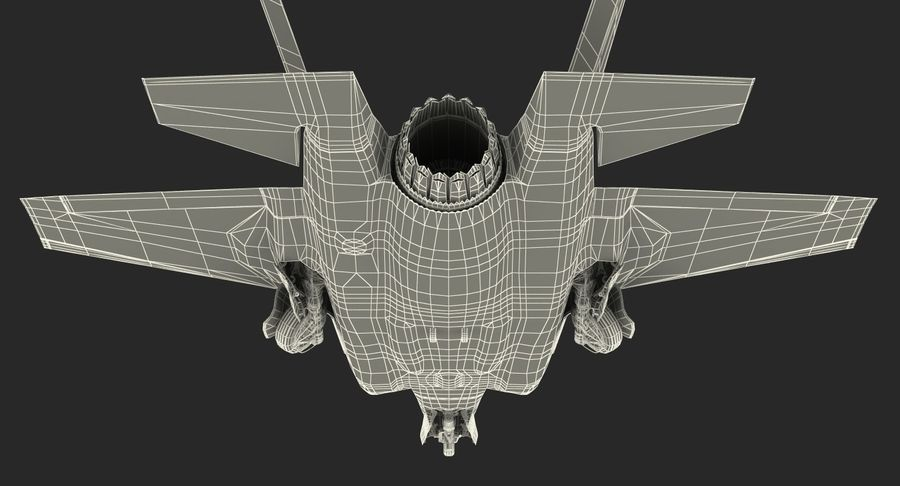 Stealth Multirole Fighter F-35 Lightning II royalty-free 3d model - Preview no. 23