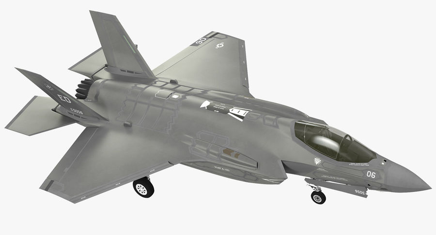 Stealth Multirole Fighter F-35 Lightning II royalty-free 3d model - Preview no. 2