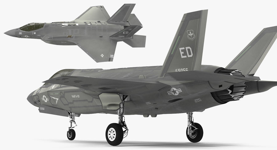 Stealth Multirole Fighter F-35 Lightning II royalty-free 3d model - Preview no. 8